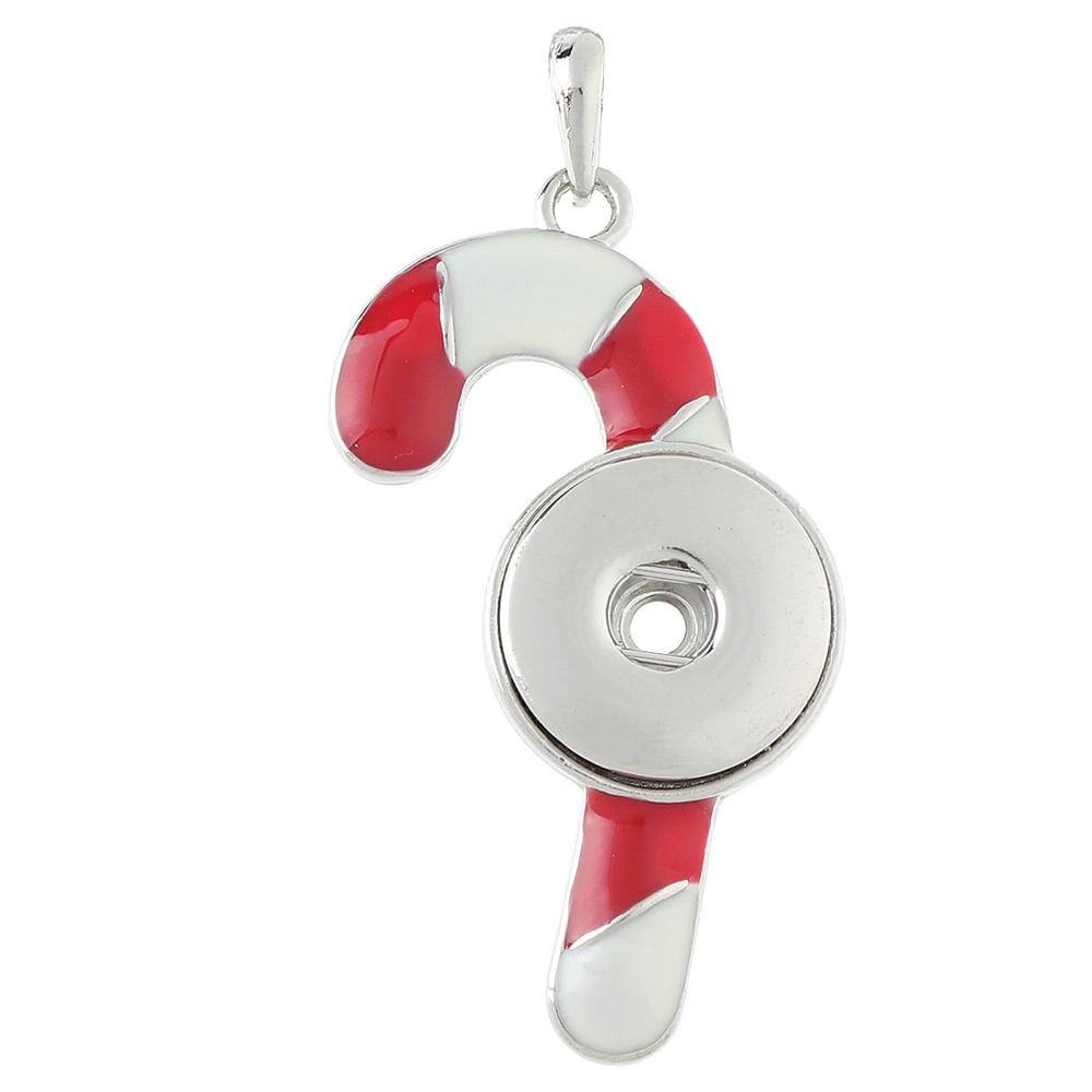 Christmas Candy snap button pendant without chain