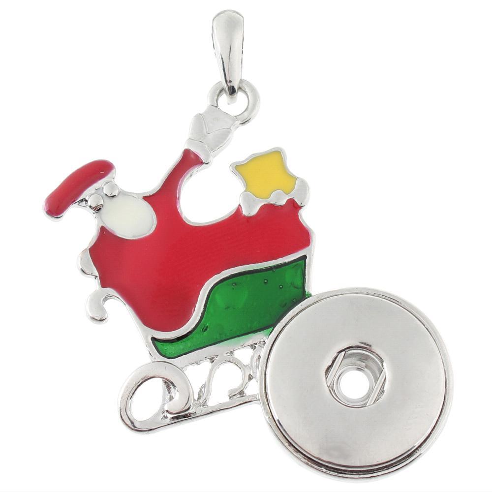 Santa Claus snap button pendant without chain