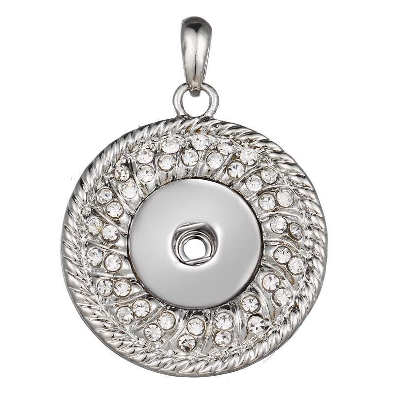Round snap button pendant without chain