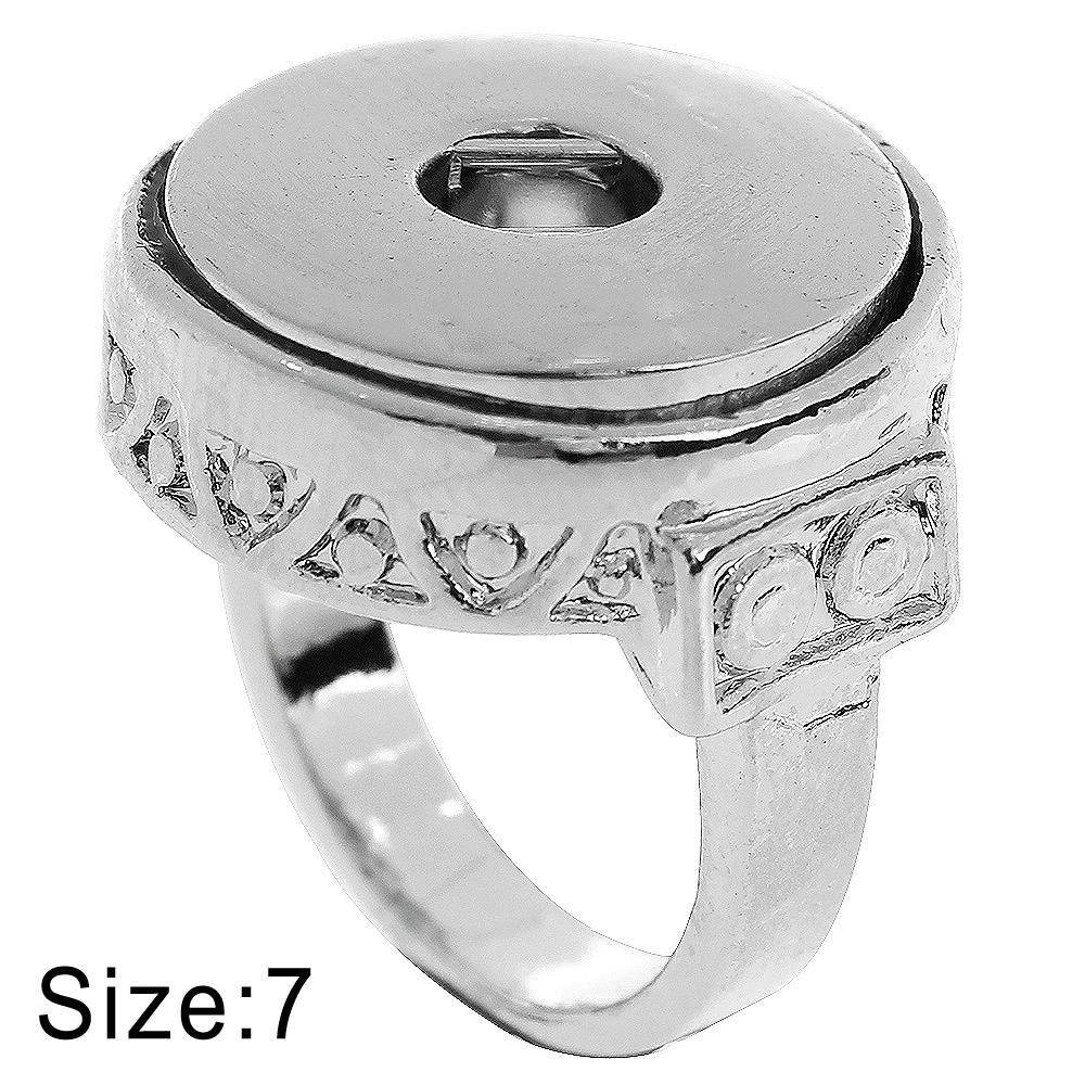 Size 7 Snaps Button Ring Fit 18mm and 20mm Ginger Snaps buttons