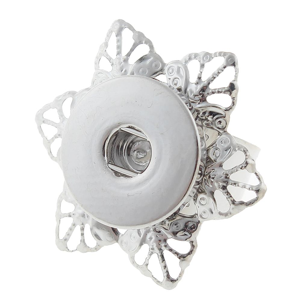 Adjustable Snap Button Rings Jewelry fit 18mm 20mm Snaps Button