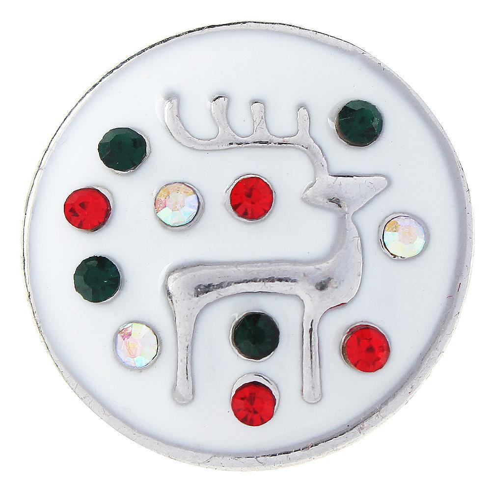 Christmas Xmas Animal Deer Snap Button