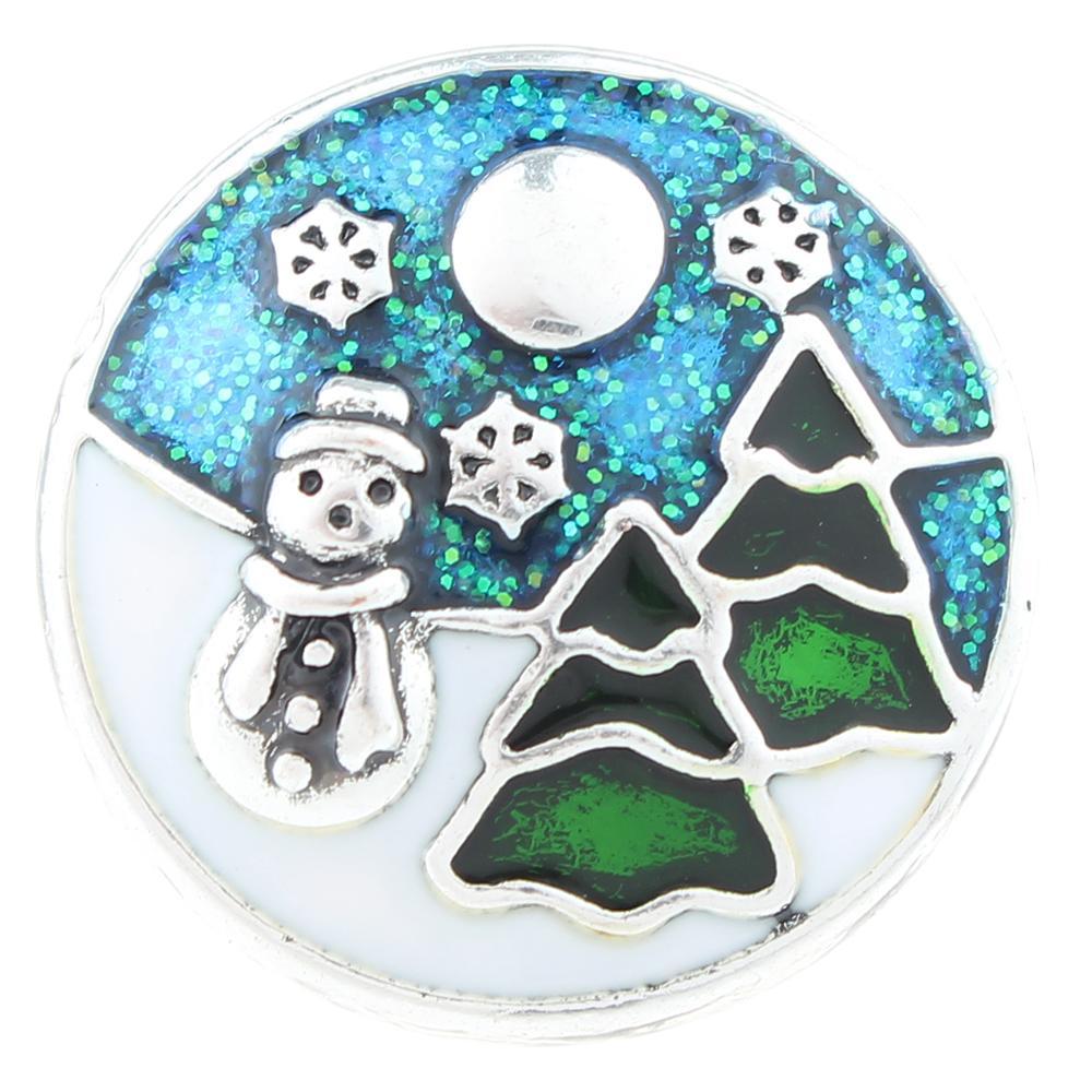 Christmas Xmas Enamel Snaps button 20mm Snap Button