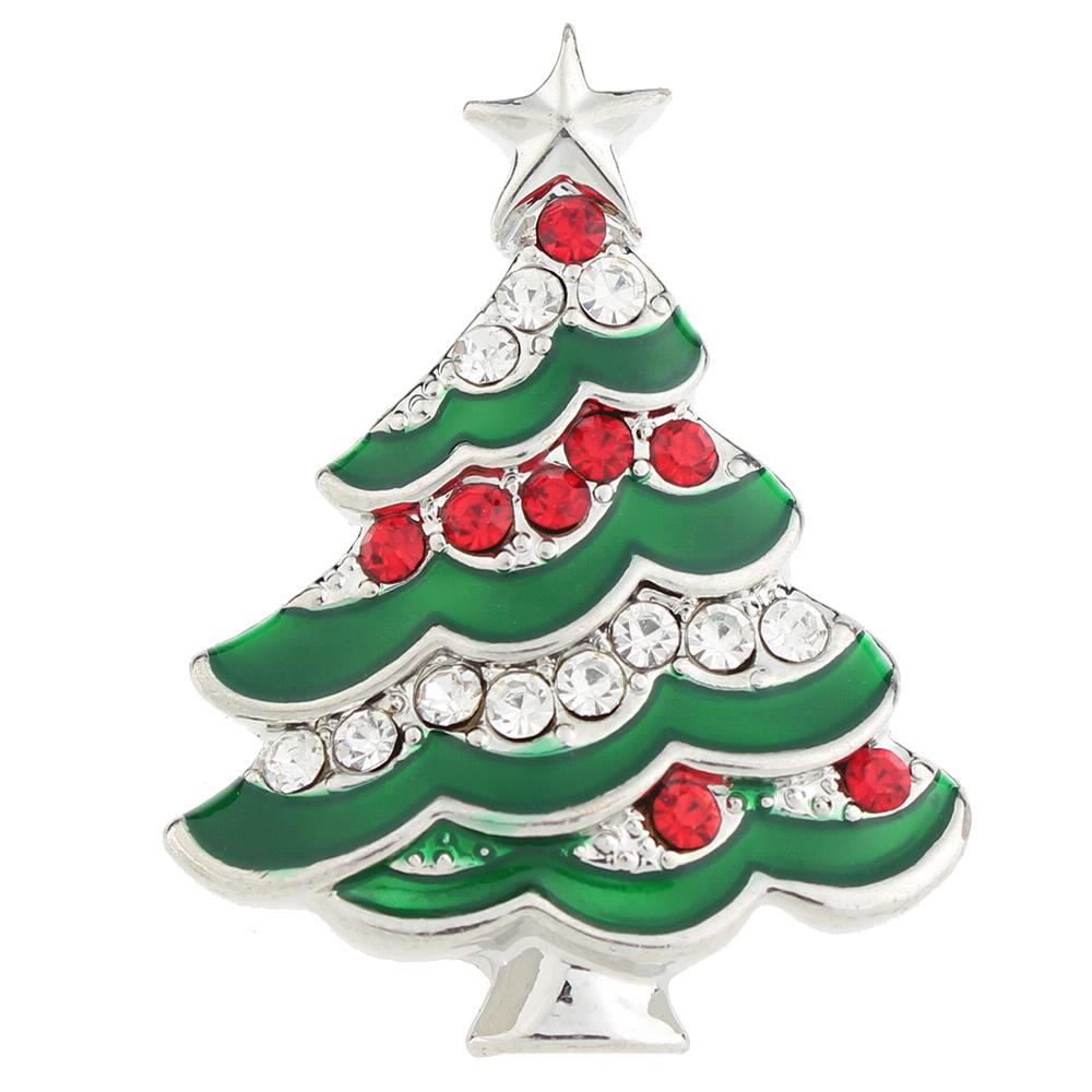 Christmas tree 20mm Snaps Button