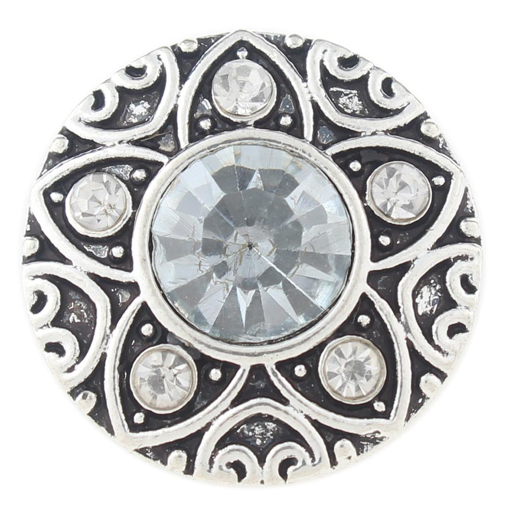 star Snap Button with rhinestone
