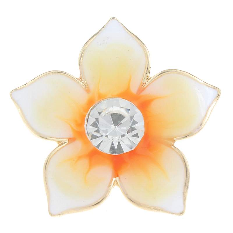20mm flower Snap Button with enamel