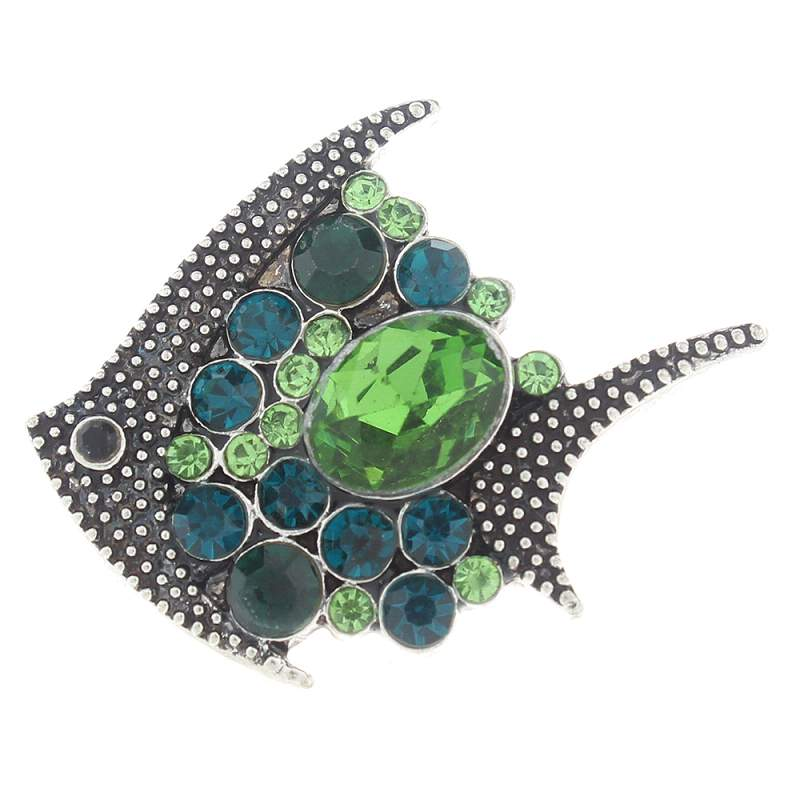 20mm fish Snap Button with rhinestone