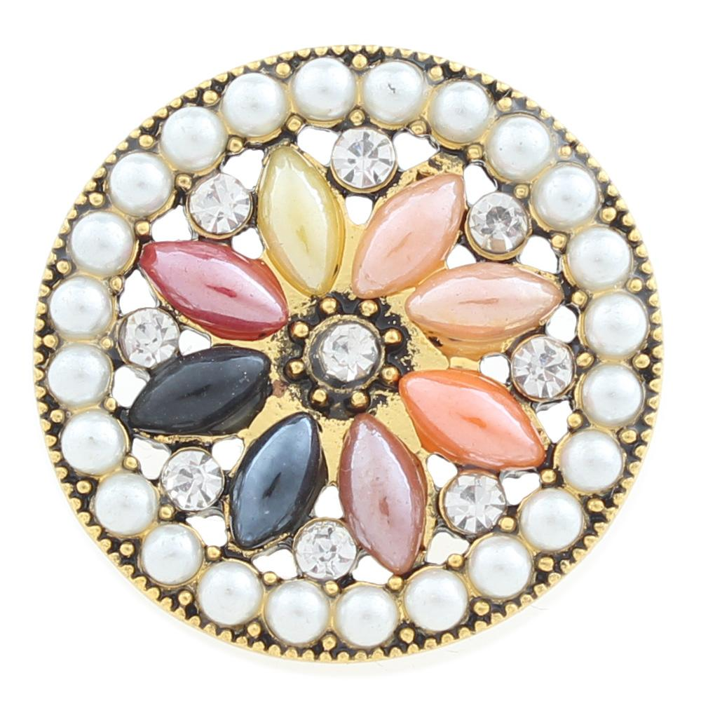 20mm design Snap Button with rhinestone