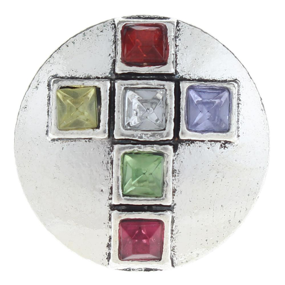 20mm cross Snap Button with rhinestone