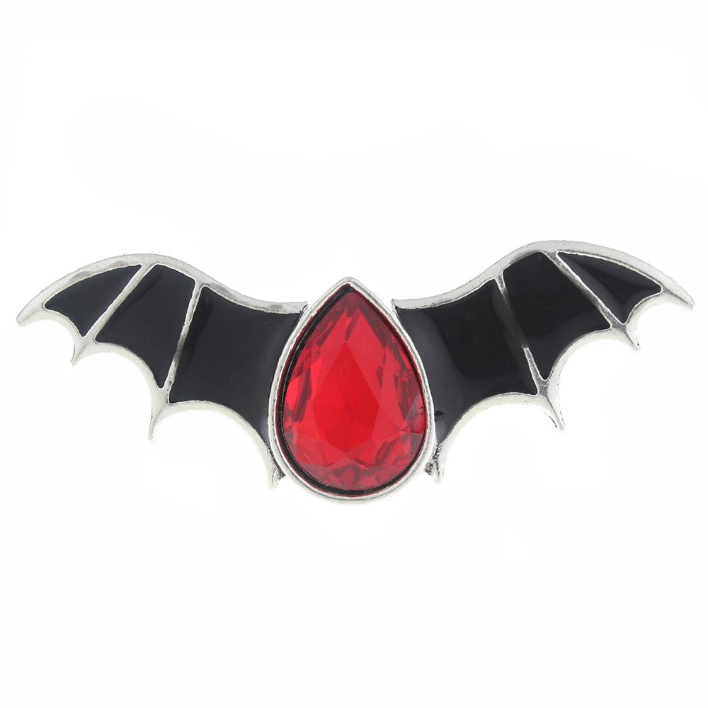 20mm bat Snap Button with rhinestone