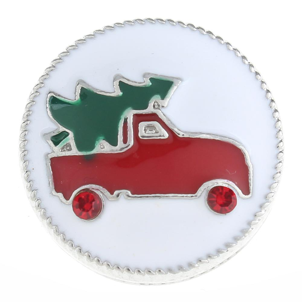 20mm Christmas Snap Button with rhinestone