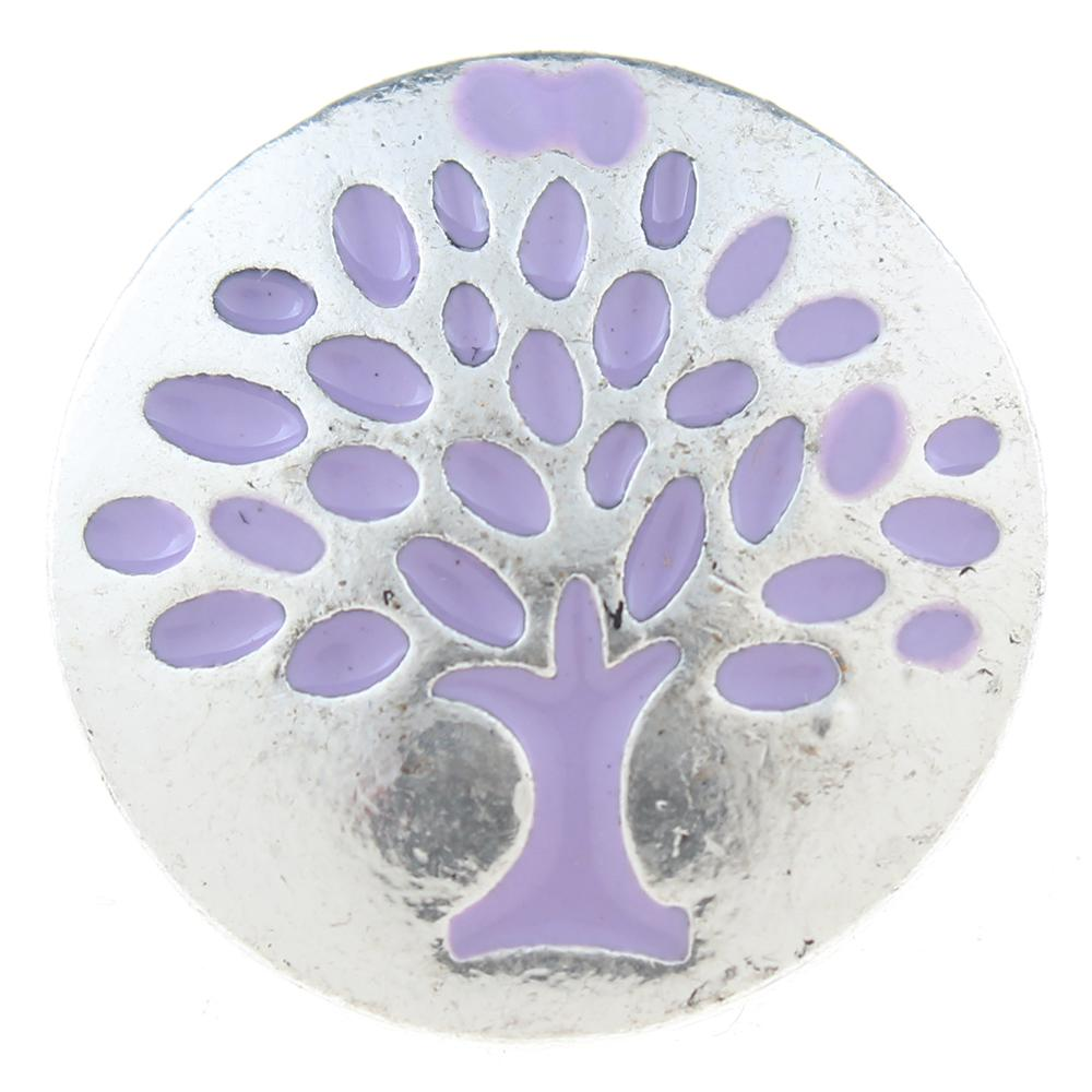 20mm Snap Button plated sliver with rhinestone