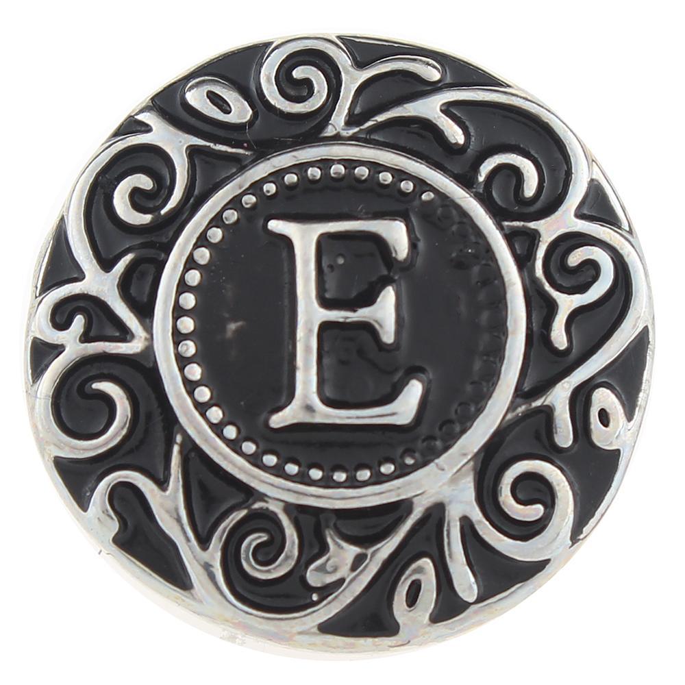 Alphabet - E 20mm Snap Button
