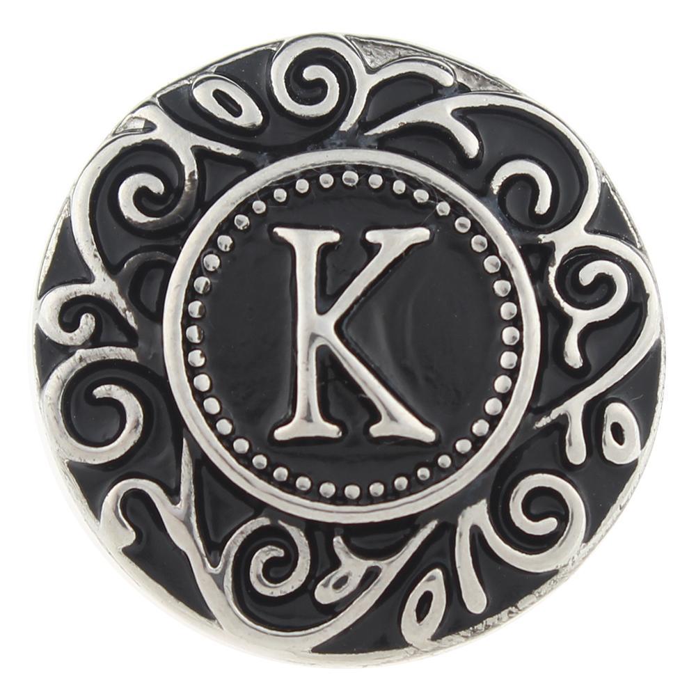 Alphabet - K 20mm Snap Button
