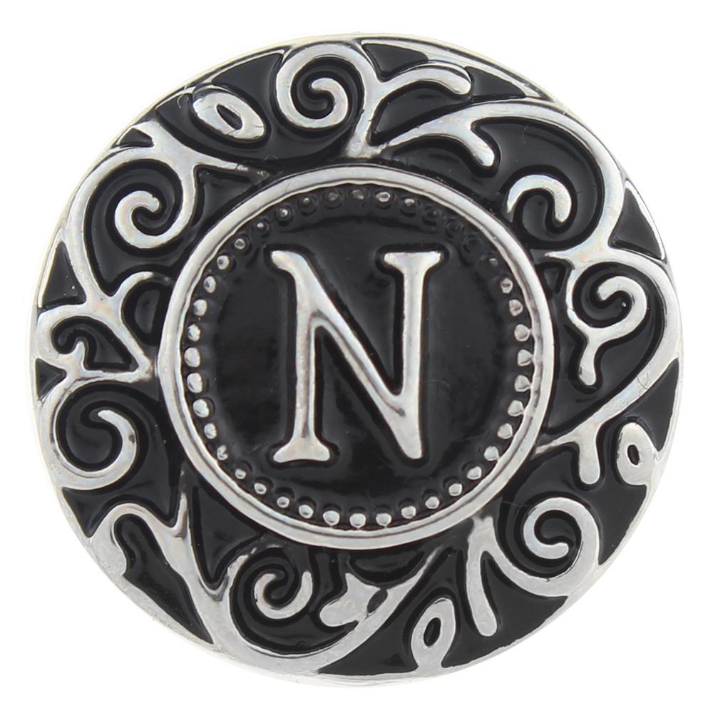 Alphabet - N 20mm Snap Button