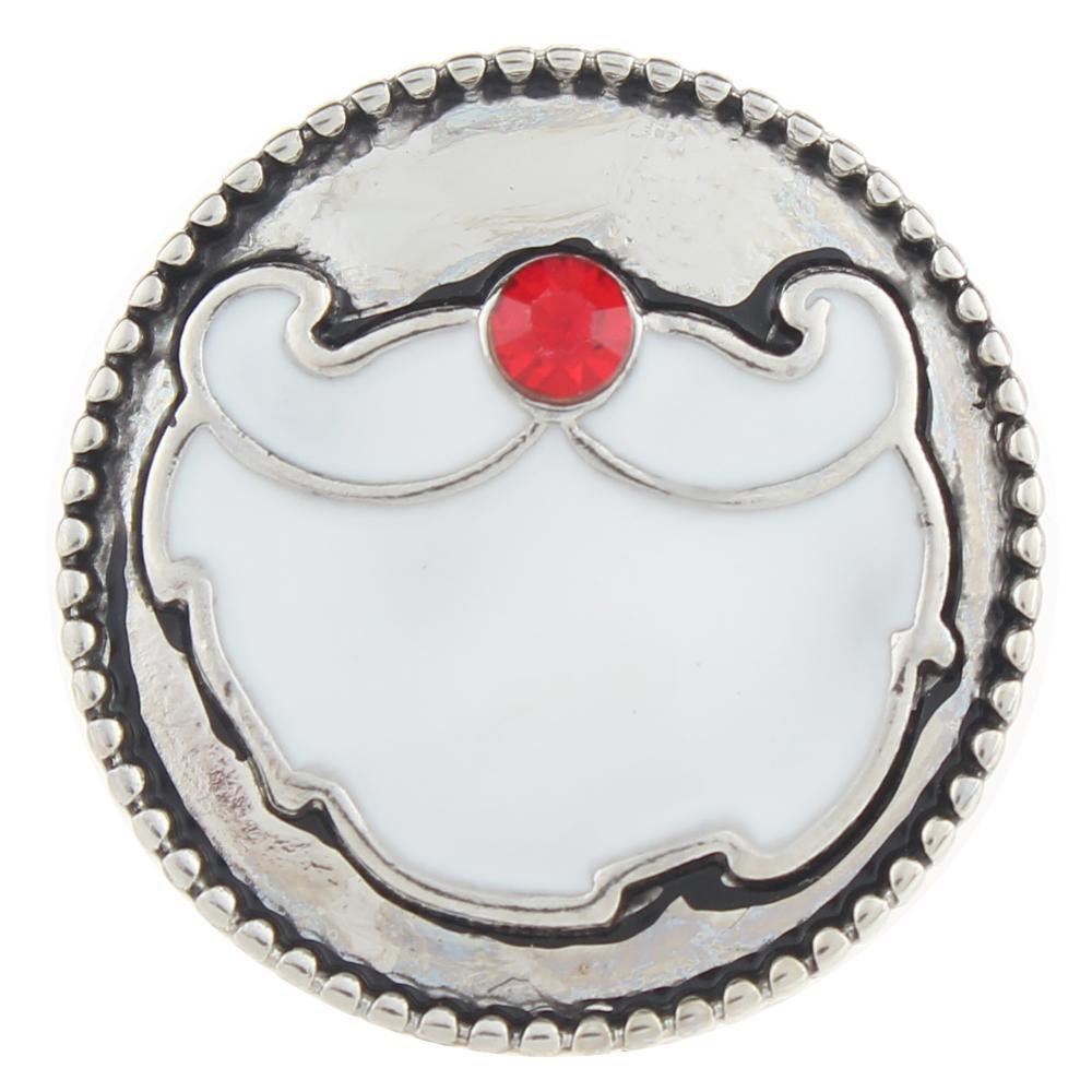 Christmas Xmas Santa Claus 20mm Snap Button