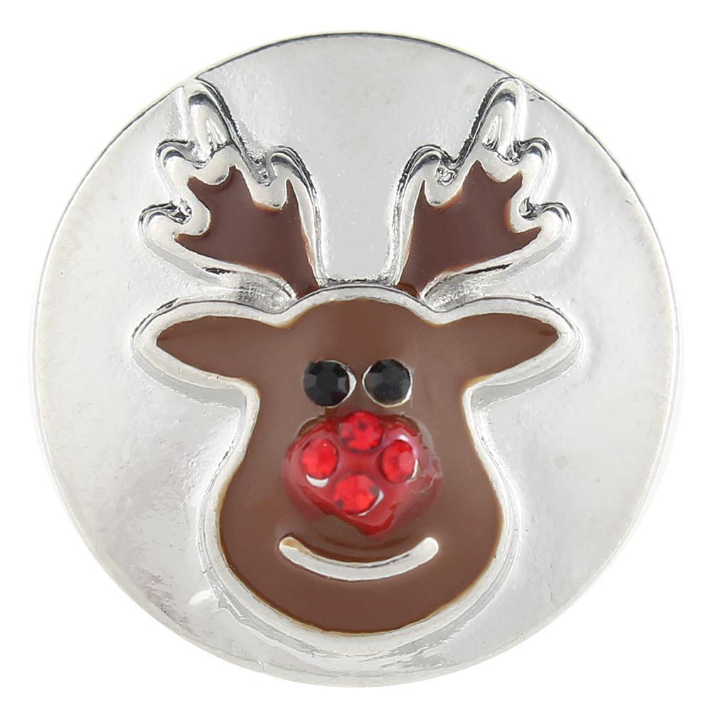 Christmas Xmas Animal Deer 20mm Snap Button