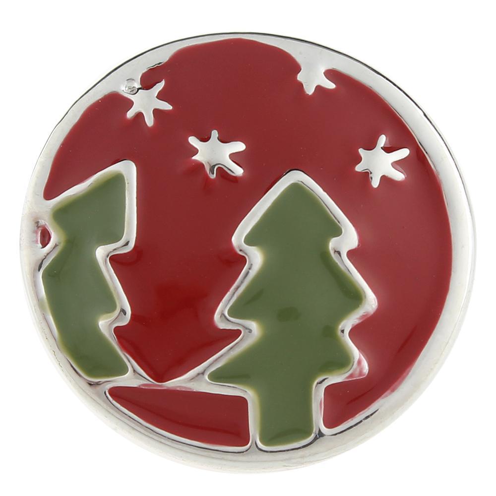 Christmas Xmas Tree 20mm Snap Button