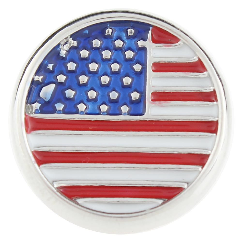U.S.A National flag 20mm Snap Button