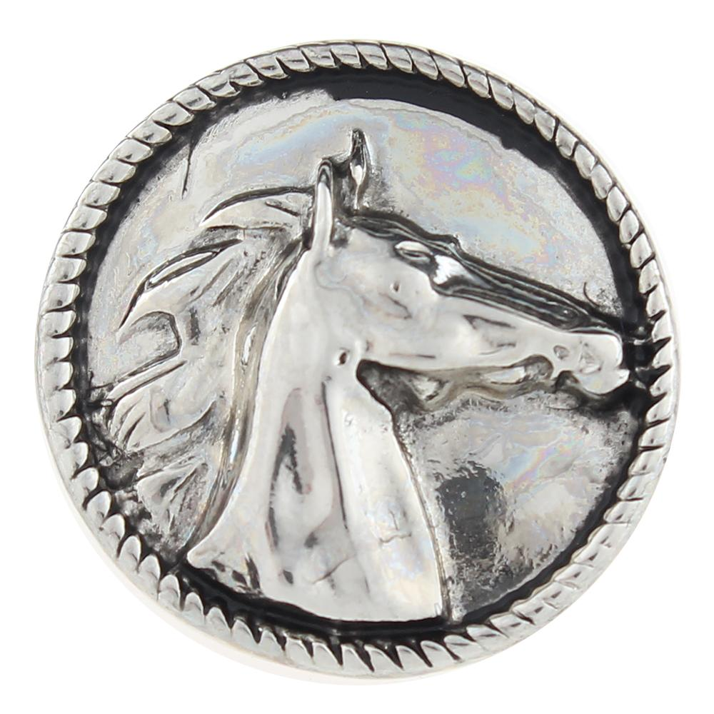 Animal Horse 20mm Snap Button
