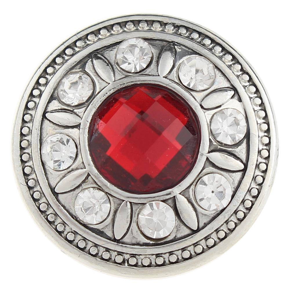 Red Design 20mm Snap Button