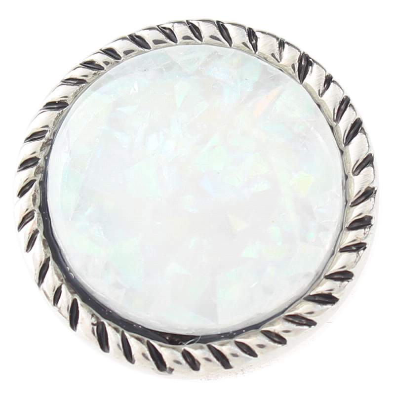 20mm imitation shell snap Silver Plated snaps jewelry