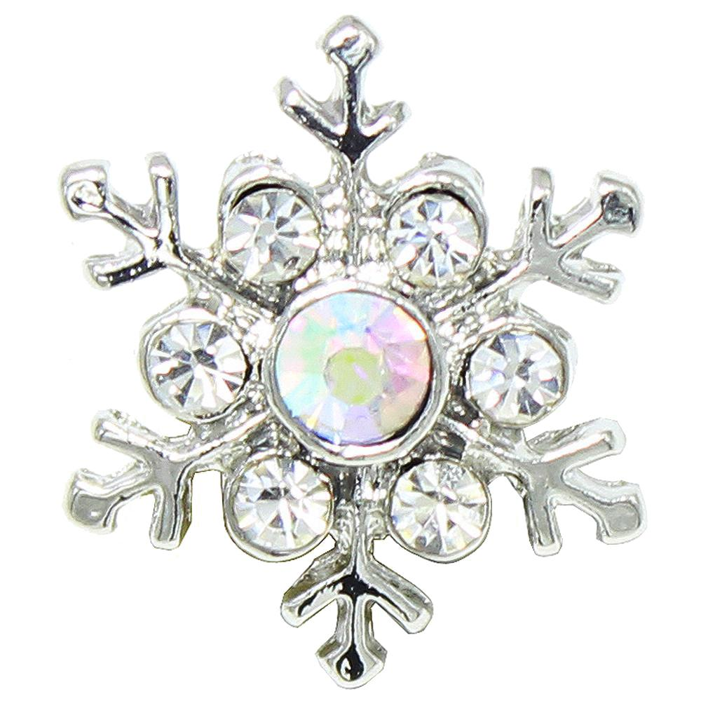 20mm AB color snowflake snap button
