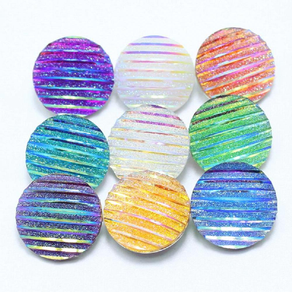 10pcs/lot Mixed Various colors of the flower resin snaps buttons fit 18mm Ginger
