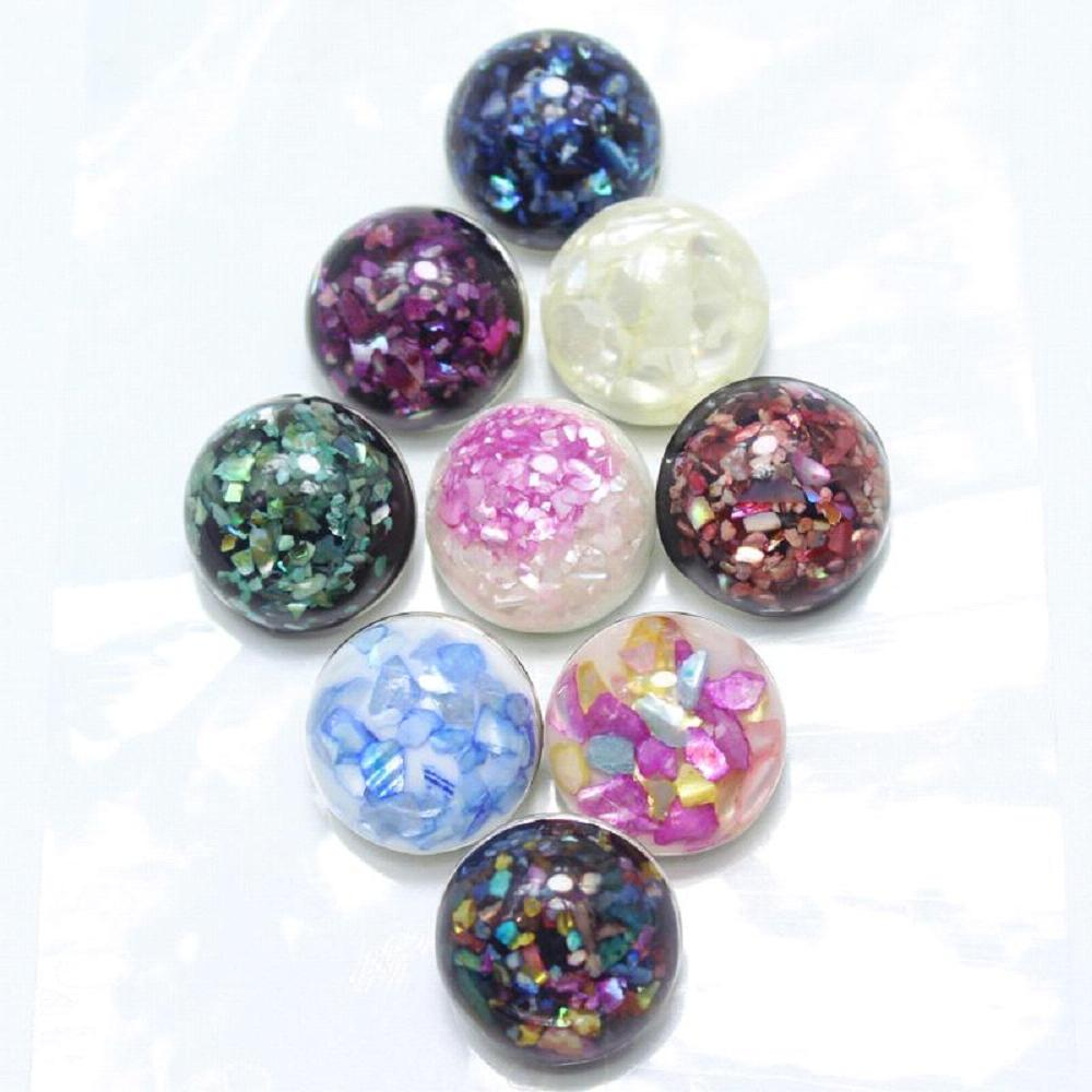 10pcs/lot Mixed Various colors of the flower resin snaps buttons fit 18mm Ginger buttons bracelets and snaps necklace