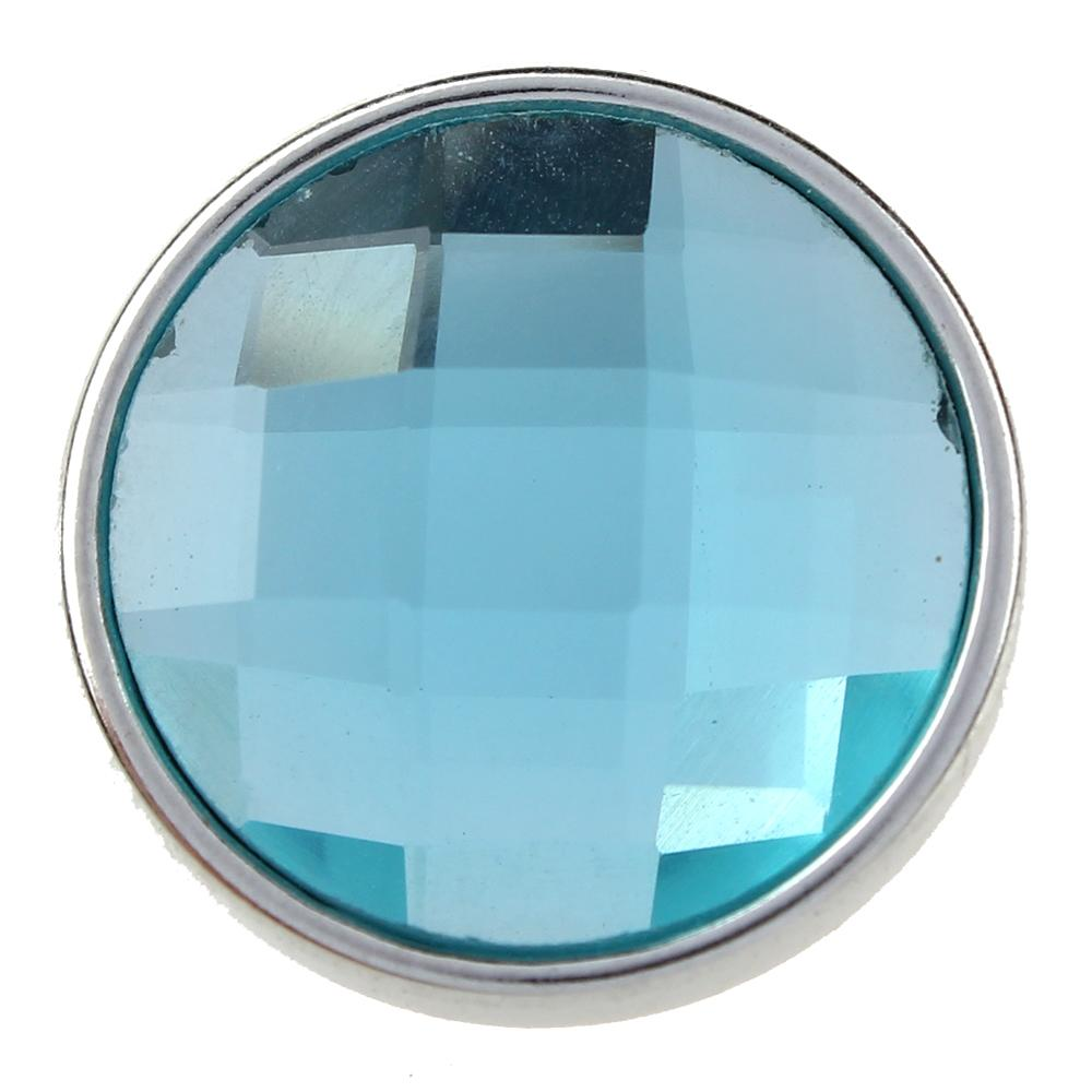 18mm sky blue cut glass button Faceted crystal snaps