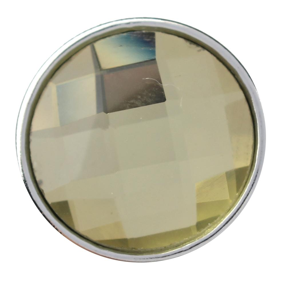 18mm yellow cut glass button Faceted crystal snaps