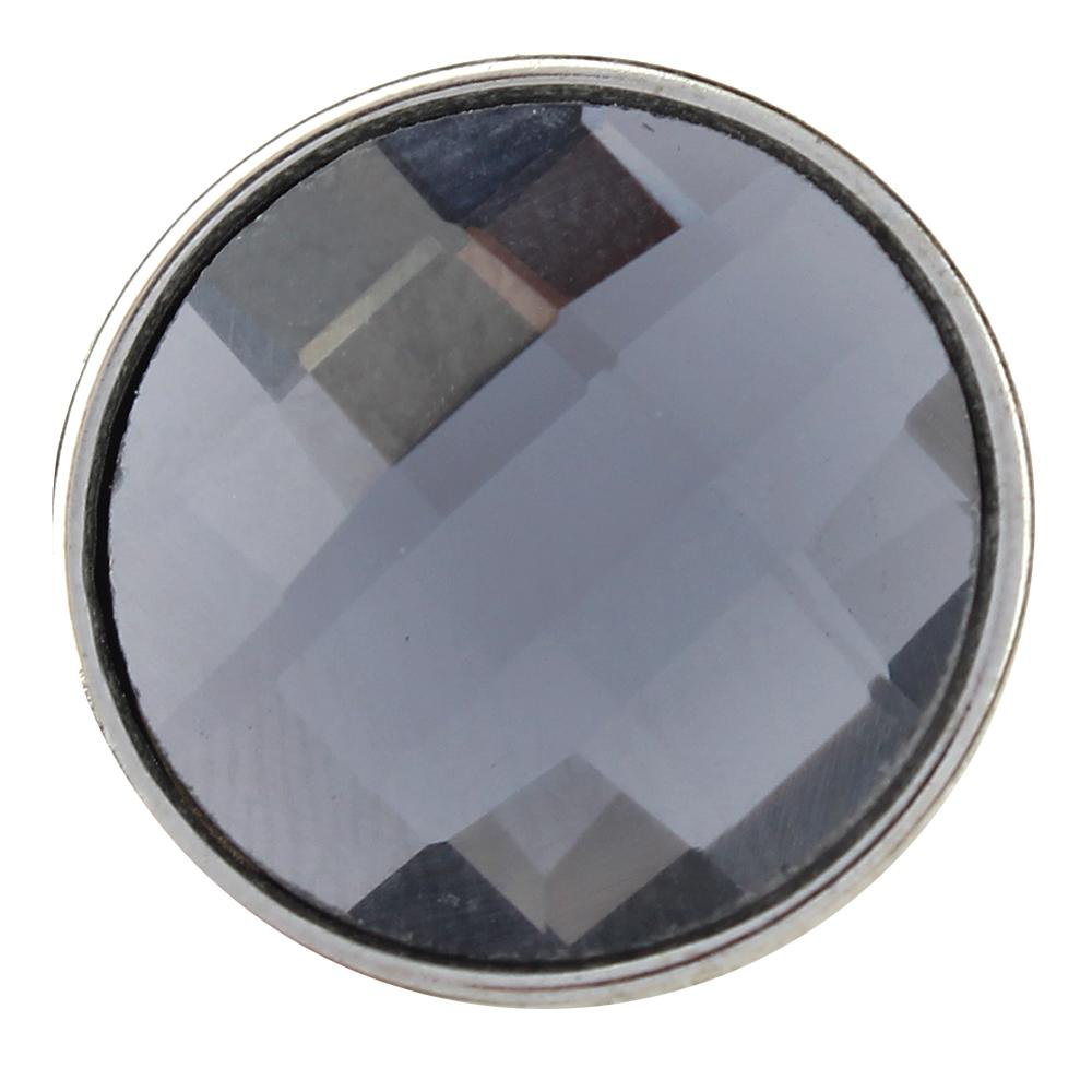 18mm gray cut glass button Faceted crystal snaps
