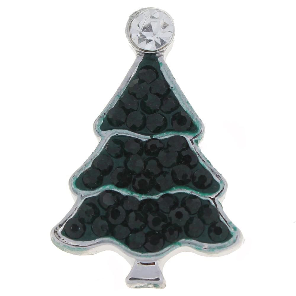 Merry Christmas green with clear Rhinestones Christmas Tree