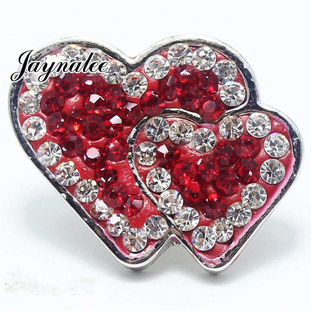 Merry Christmas Rhinestones Heart to heart snaps jewelry