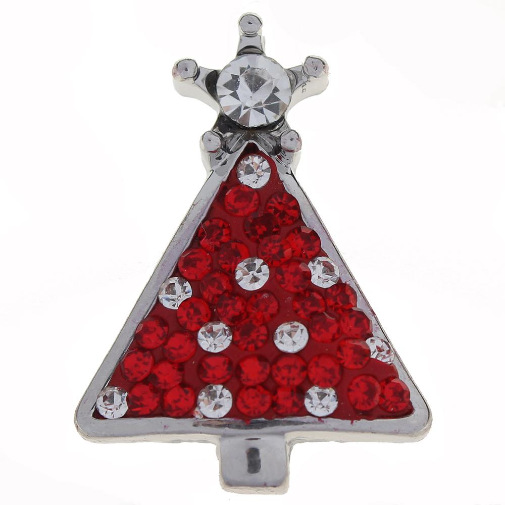 Merry Christmas red with clear Rhinestones Christmas Tree