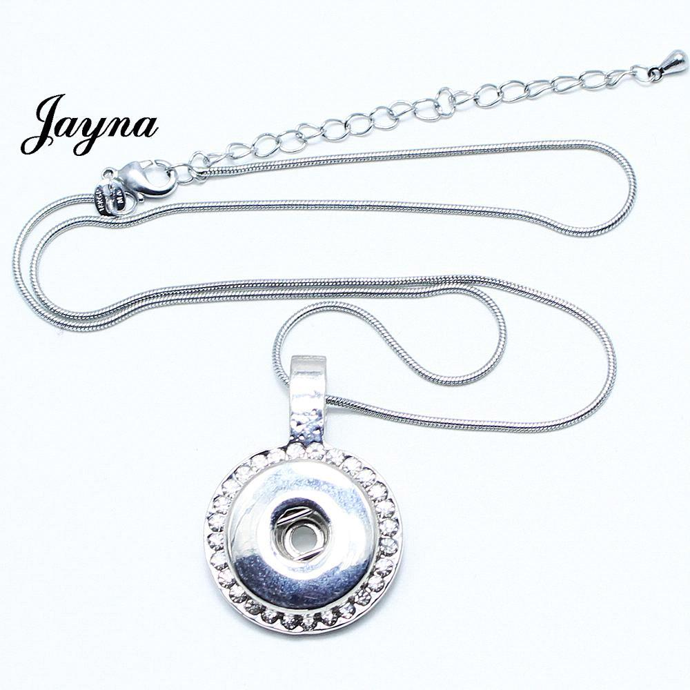 High Quality necklace with one Pendants and chain fit 18mm snaps jewelry