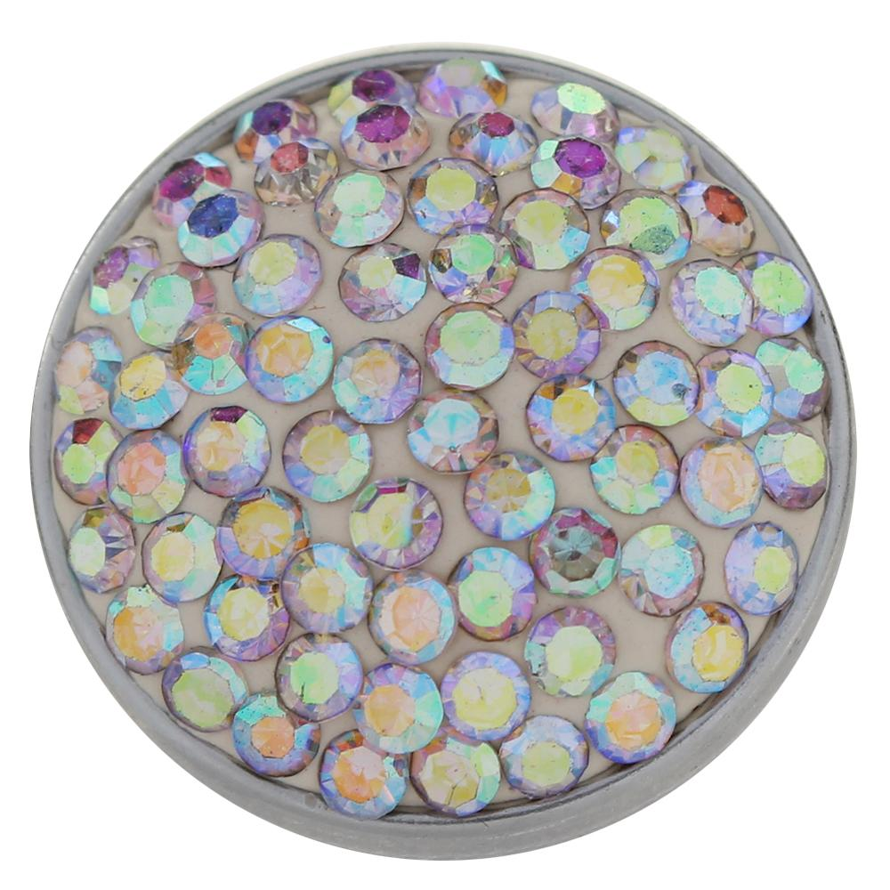 20 mm rhinestones with CrystalAB white snaps