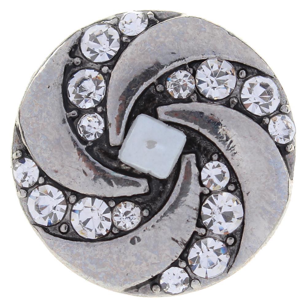 20mm clear rhinestone flowers metal