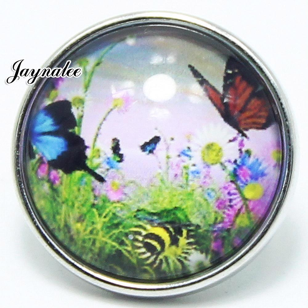 20mm button butterfly Glass Cover Snaps