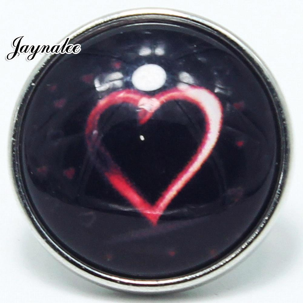 20mm button love Glass Cover Snaps