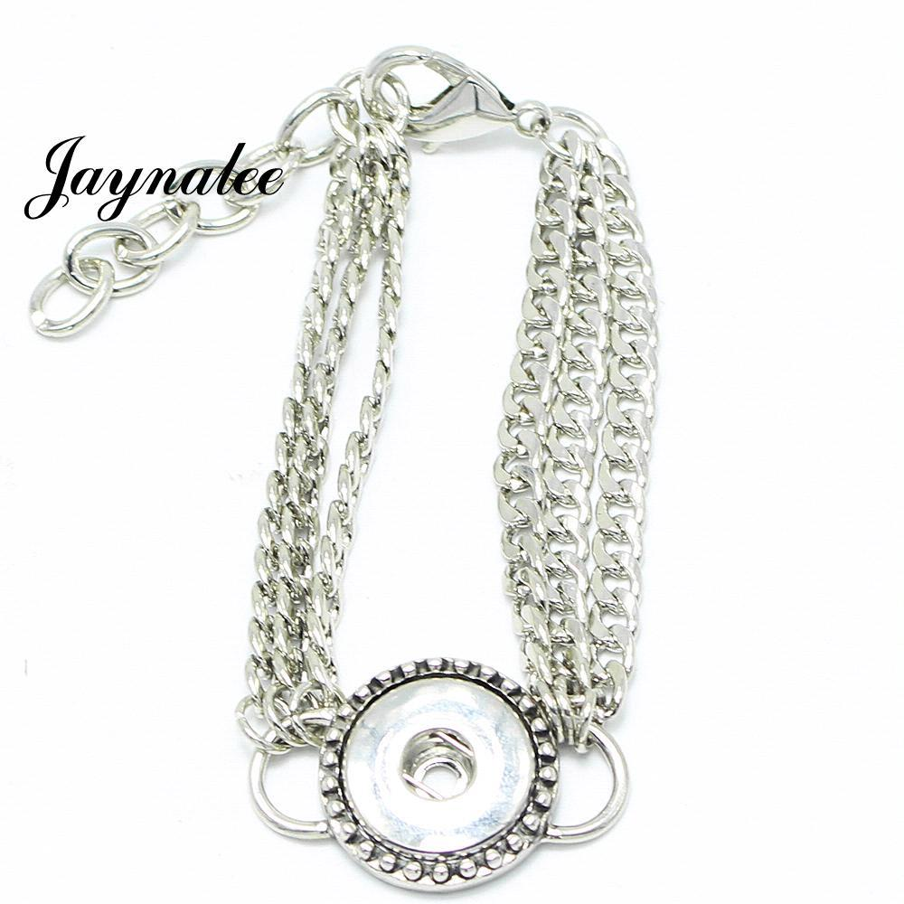 new high quality charm metal snap bracelets bangles for women fit 18mm button snap jewelry