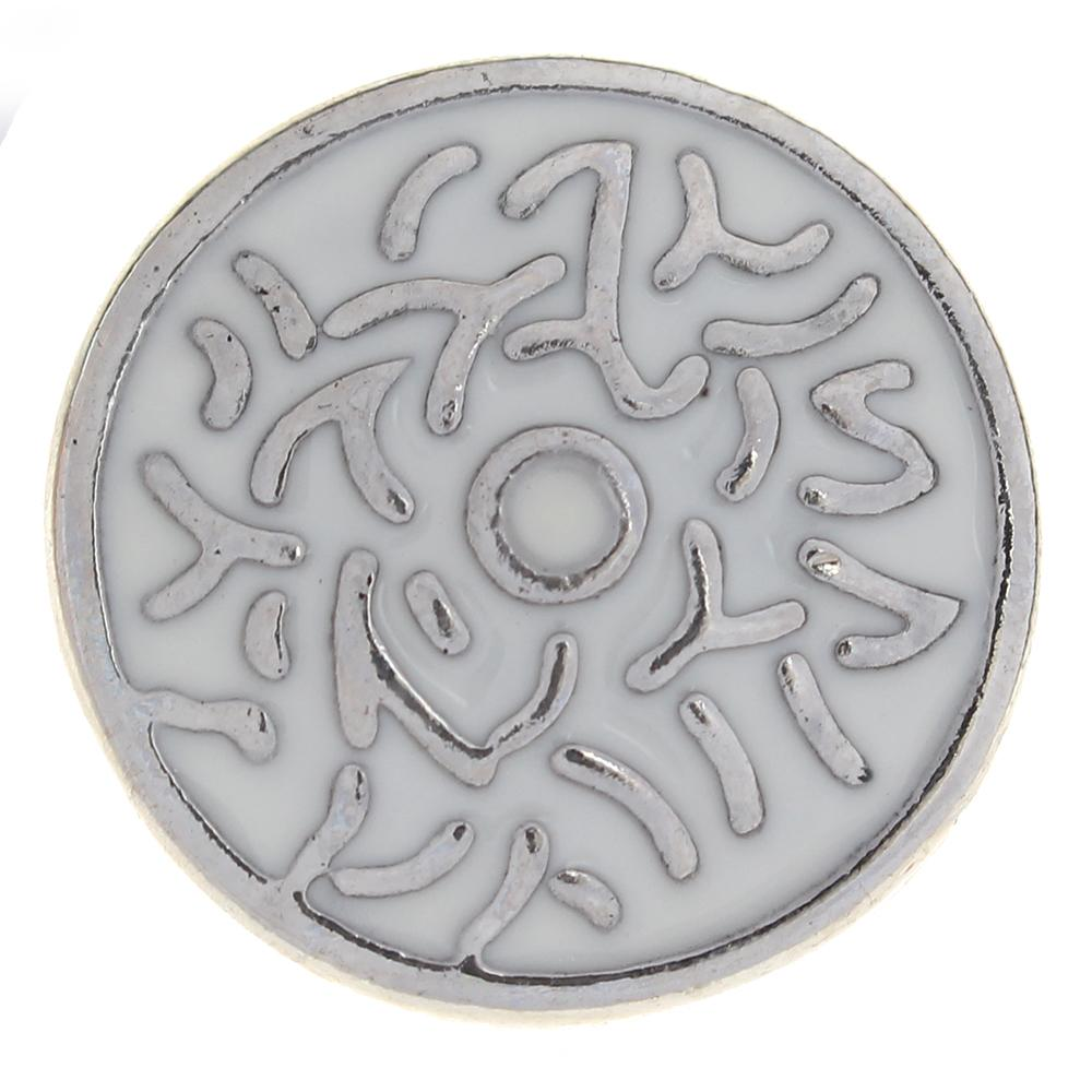 20mm White Enamel flowers metal snaps buttons jewelry