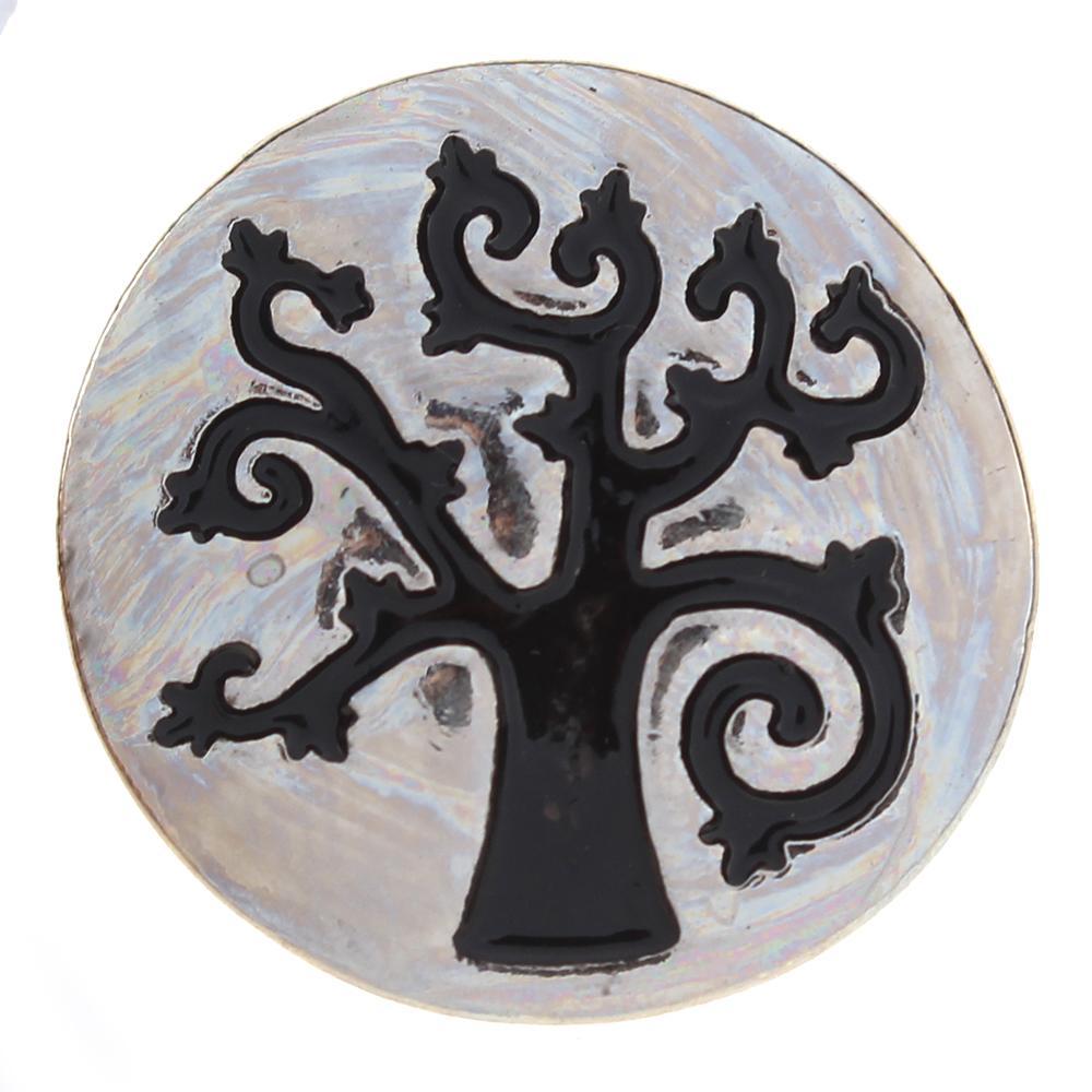 20mm blackened Life tree metal snaps jewelry