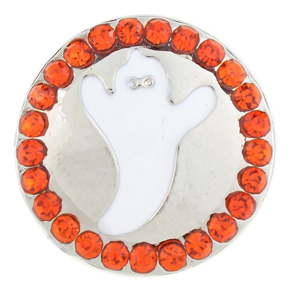 Halloween ghost Enamel Snaps button 20mm Snap Button