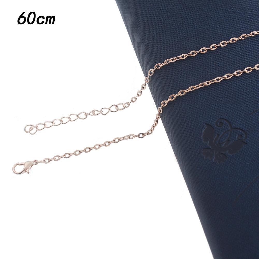 1.5mm*60CM rose gold Iron necklace chain