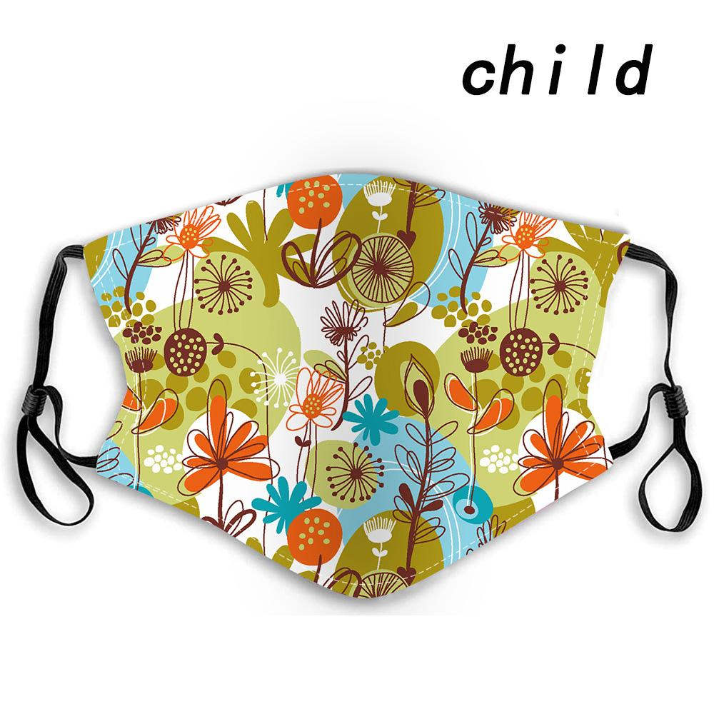 Children's cotton mask with 2 pcs PM2.5 filters