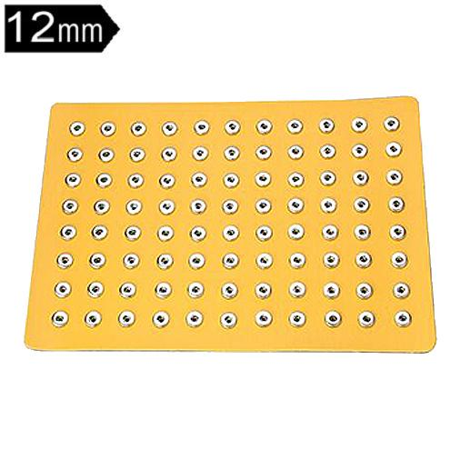 PU leather 88 buttons snap Display fit 12mm snaps