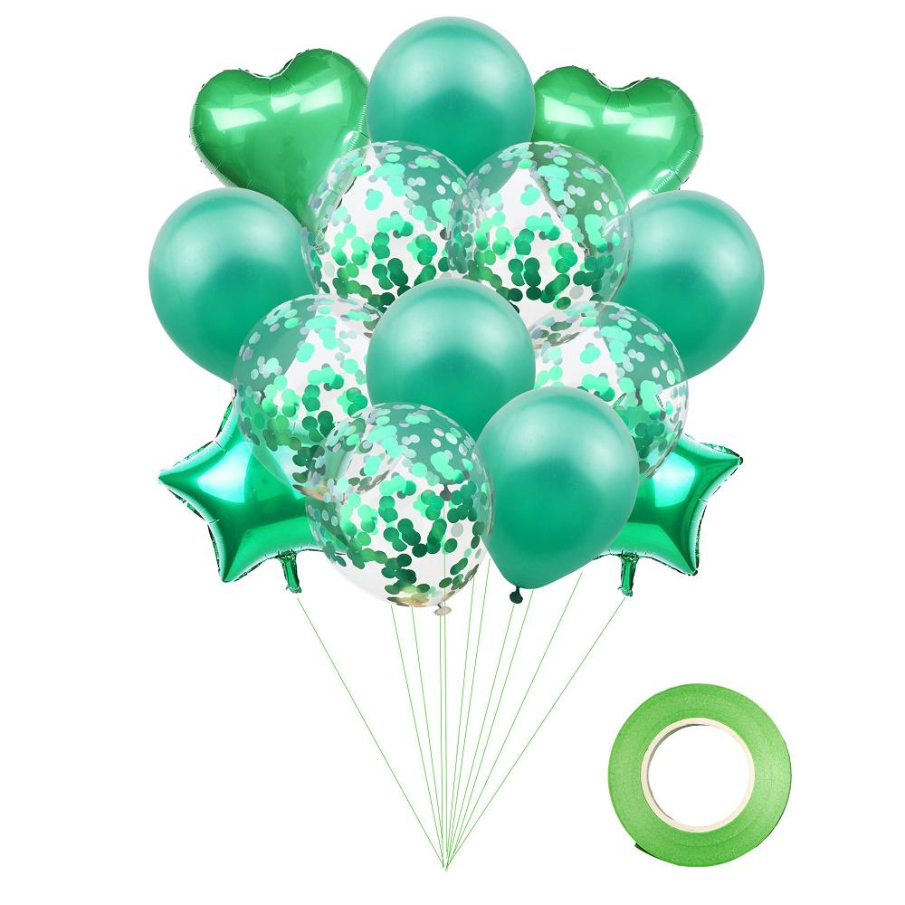 Pentagram love heart foil balloon set for Birthday Wedding party