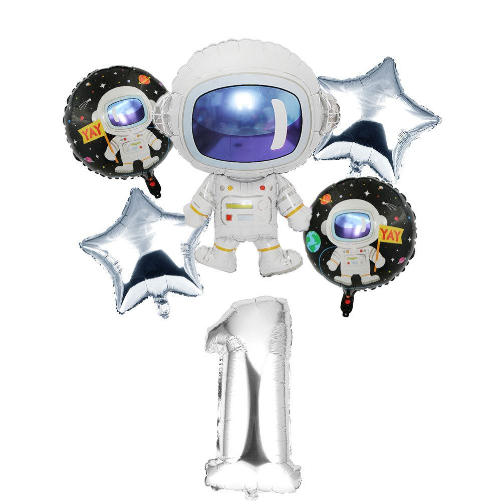 Space Astronauts 40 Inch Digital Aluminum Balloon Children's Birthday Party