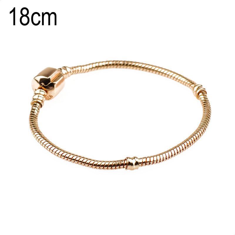 18 CM Copper Golden European Beads bracelets